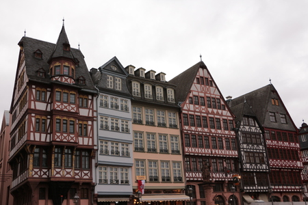 Historic buildings at the R?mer in the center of Frankfurt am Main Stock Photo