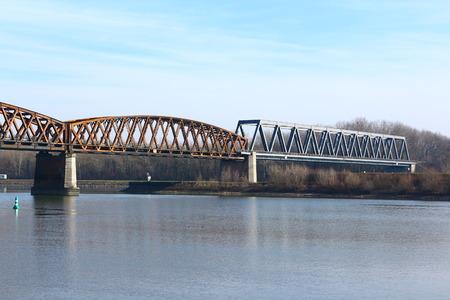 View of the Rhine bridge Wintersdorf-Roppenheim