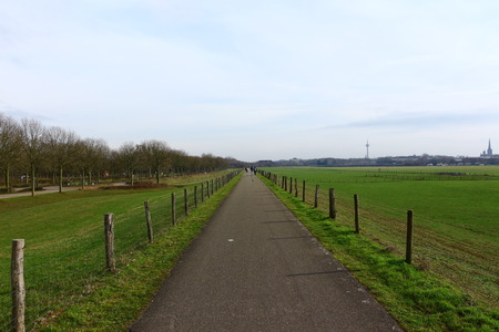 Hiking path on a dike in Wesel