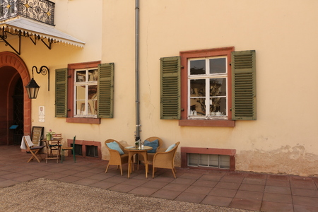 Small cafe in the courtyard of Homburg Castle in Bad Homburg vd H?he