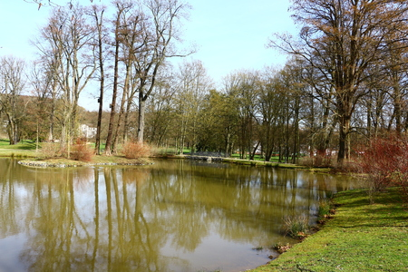 In the spa park of Bad Homburg in the Taunus