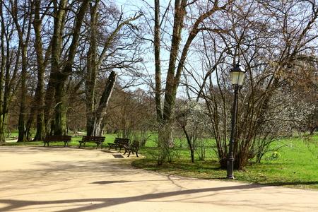In the spa park of Bad Homburg in Hesse Stock fotó
