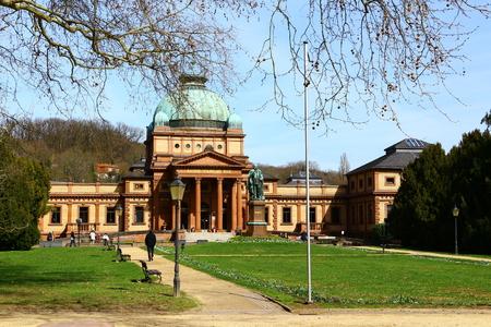 Historic building in the spa gardens of Bad Homburg in the Taunus Stock fotó