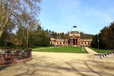 Historic building in the spa gardens of Bad Homburg in Hesse Stock fotó