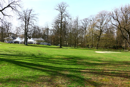 Golf course in the spa park of Bad Homburg in Hesse