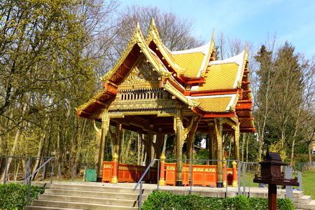 Temple complex in the spa gardens of Bad Homburg in the Taunus