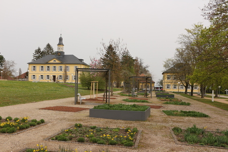 Spring in the spa park of Bad Rappenau