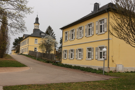Historic buildings in the spa park of Bad Rappenau