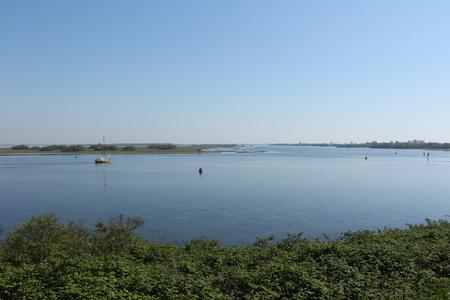 Blick auf das Grevelingenmeer bei Brouwershaven in Holland
