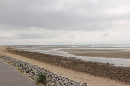 View over the Wadden Sea off the North Sea island of F?hr Standard-Bild