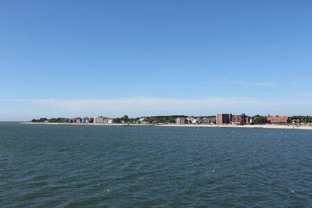 View of the holiday resort Wyk auf F?hr on the North Sea island F?hr