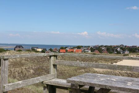 View over the North Sea island Amrum Stok Fotoğraf
