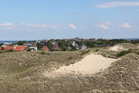 View over the North Sea island Amrum Standard-Bild