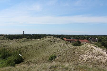 Wide view over the North Sea island Amrum
