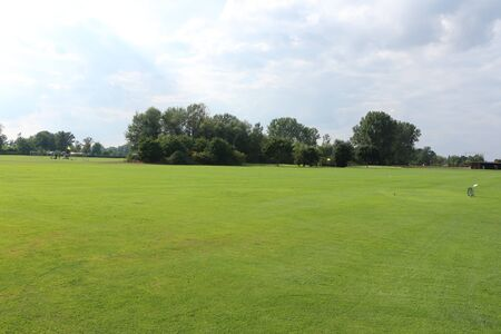 View of the golf course of Bd G?gging, a district of Neustadt an der Donau in Bavaria Stock fotó