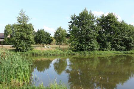 Blick auf den Fluss Abens im Kurort Bad G?gging in Niederbayern