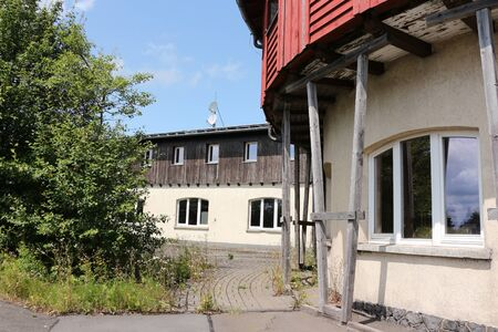 Old military building on the summit of Wasserkuppe in the Rh?n