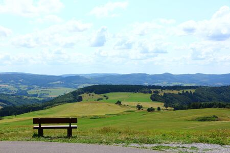 Wide view of the Wasserkuppe in the Rh?n Stock Photo