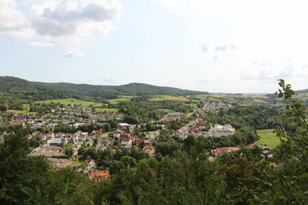 View from Schloss Spangenberg to the old town of Spangenberg