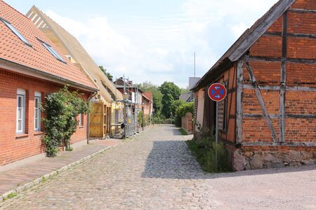 Historic buildings in the center of Bad Bevensen in the L?neburg Heath