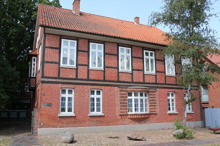 Historic building in the center of Bad Bevensen in the L?neburg Heath Stock Photo