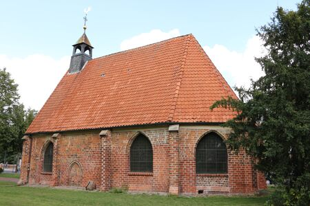 View of the Gertrudenkapelle in the center of the Hanseatic city of Uelzen in the L?neburg Heath Stock Photo