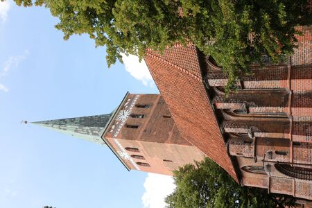 View of the Protestant church of St. Mary in the center of the city of Uelzen in the L?neburg Heath Stock Photo