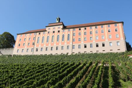 View of the Droste-H?lshoff-Gymnasium in Meersburg on Lake Constance Imagens