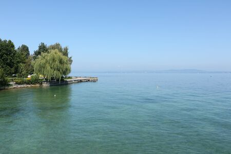 View from Romanshorn in Switzerland on the Bodensee