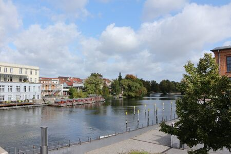 View of the river Havel in the center of the city Brandenburg an der Havel