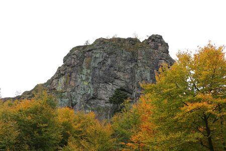 View of the Bruchhauser stones in the Hochsauerland Standard-Bild - 133052919