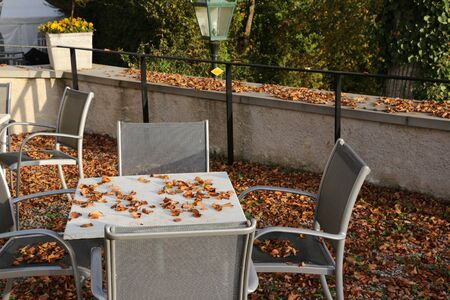 Autumn at Schwandegg Castle in the canton of Zurich in Switzerland