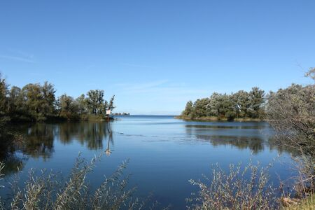View into the Rhine delta on Lake Constance