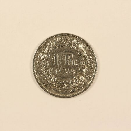 Front of a Swiss 1-franc coin