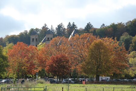 Autumn at the Benedictine abbey Maria Laach in the Eifel