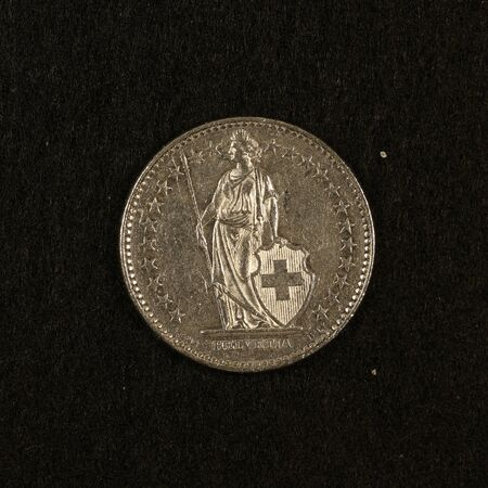 Back of a Swiss 2 franc coin
