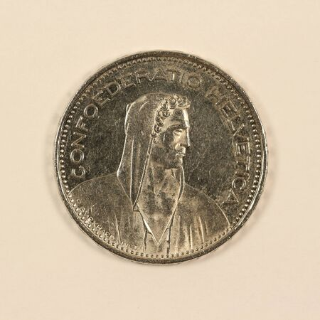 Back of a Swiss 5 franc coin