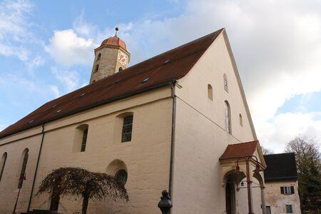 Church in the old town of Ellwangen in southern Germany Фото со стока