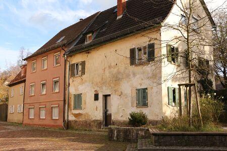 Historic buildings in the center of Ellwangen