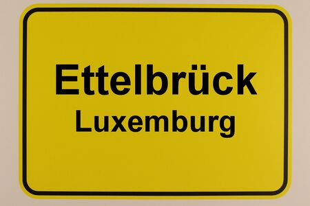 Graphic representation of the town sign of the city Ettelbr?ck in Luxembourg