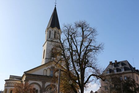 View of the church in the center of Ettelbr?ck in Luxembourg