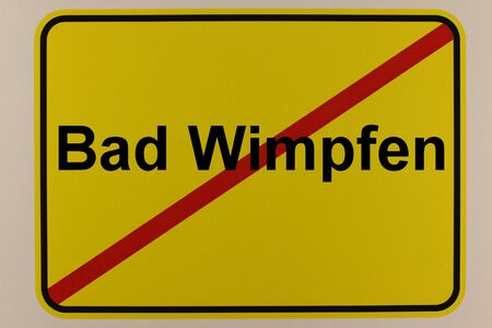 Graphic representation of the city exit sign of Bad Wimpfen
