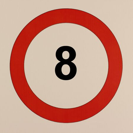 Graphical representation of the road traffic sign maximum speed 8 km / h Stock Photo