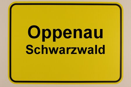 Graphic representation of the entrance sign to the city of Oppenau in the Black Forest