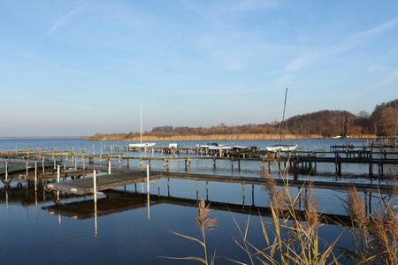 View of a jetty in Steinhude