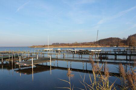 Vista de un embarcadero en Steinhude