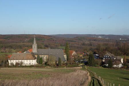 View of Oelinghausen Monastery in the Sauerland