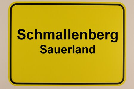 Graphic representation of the city entrance sign of the city of Schmallenberg in the Sauerland