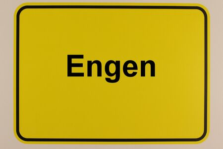 Graphic representation of the entrance sign of the city of Engen in southern Germany