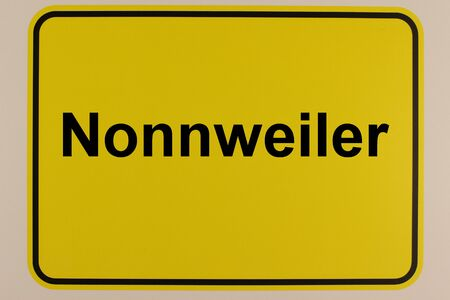 Graphic representation of the entrance sign to the city of Nonnweiler in Saarland Standard-Bild